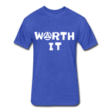 Worth It Tee - heather royal