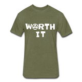 Worth It Tee - heather military green