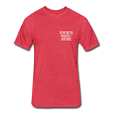 Powerful Mindset Apparel Signature Tee (Front & Back Design) - heather red