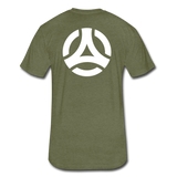 Powerful Mindset Apparel Signature Tee (Front & Back Design) - heather military green