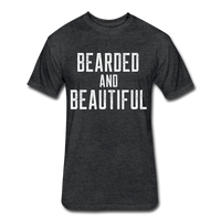 Bearded & Beautiful Tee - heather black