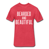 Bearded & Beautiful Tee - heather red