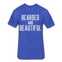 Bearded & Beautiful Tee - heather royal