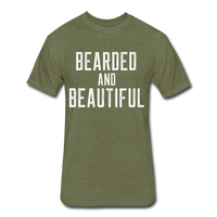 Bearded & Beautiful Tee - heather military green