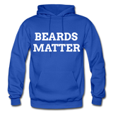 Beards Matter Hoodie - royal blue