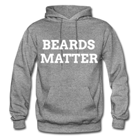 Beards Matter Hoodie - graphite heather