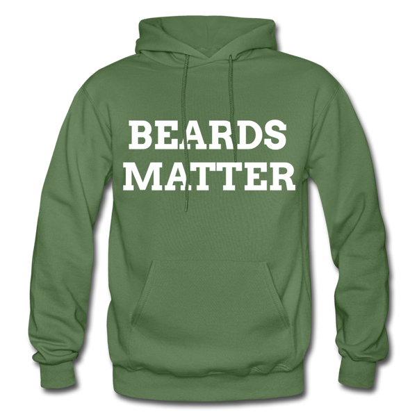 Beards Matter Hoodie - military green