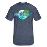 Powerful Mindset Summer Tee - heather navy