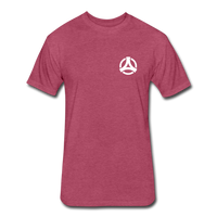 Powerful Mindset Summer Tee - heather burgundy