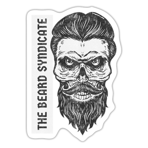 The Beard Syndicate Sticker - white matte