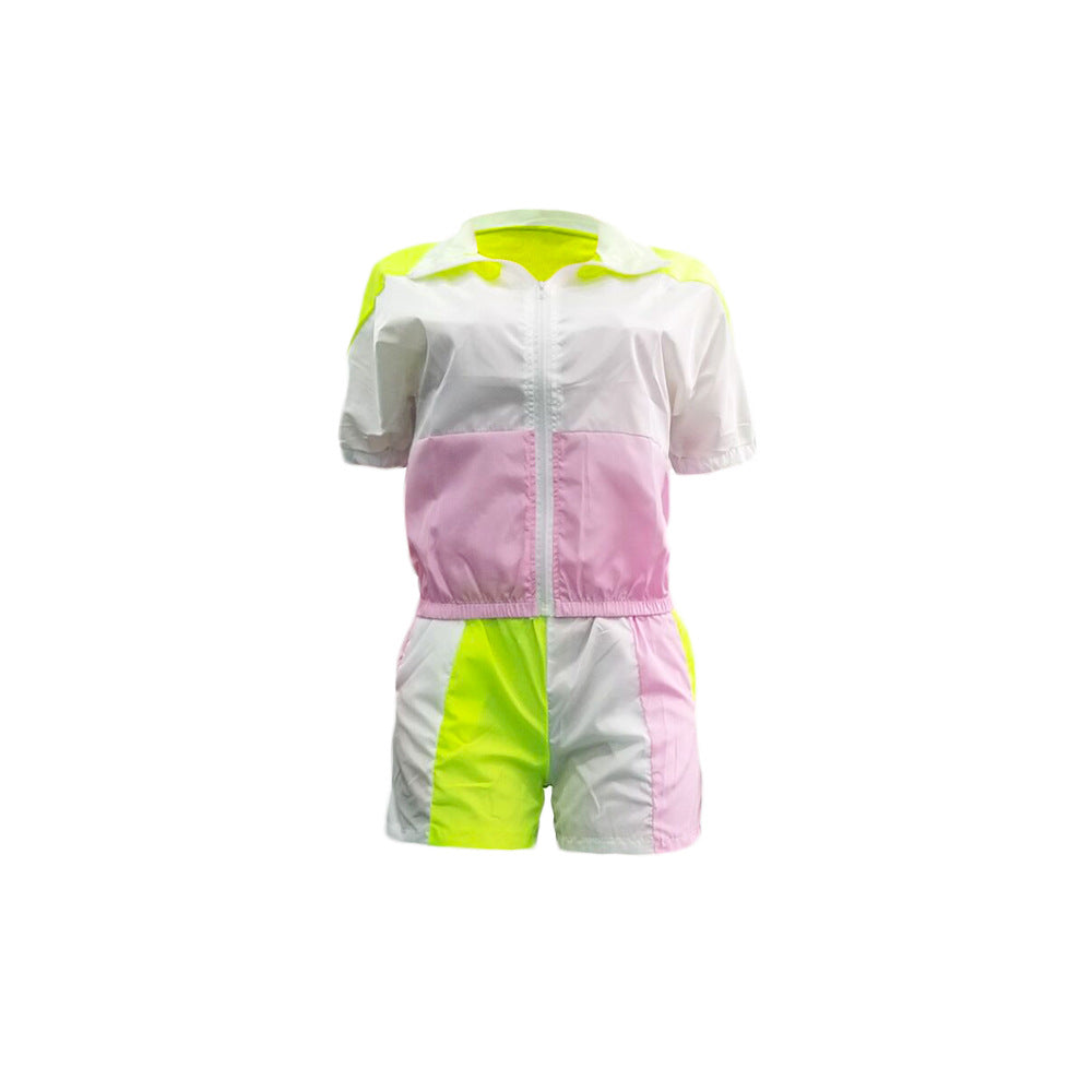 Blocks Shirt Short Set