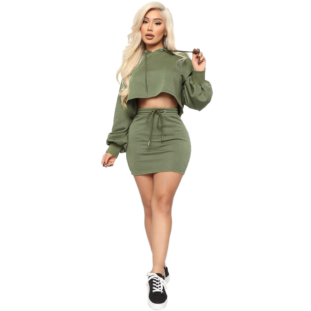 Hoodie Mini Dress Set