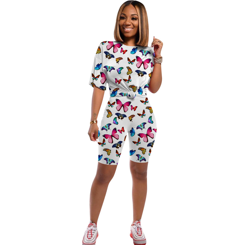 Printed Butterfly Lounge Set