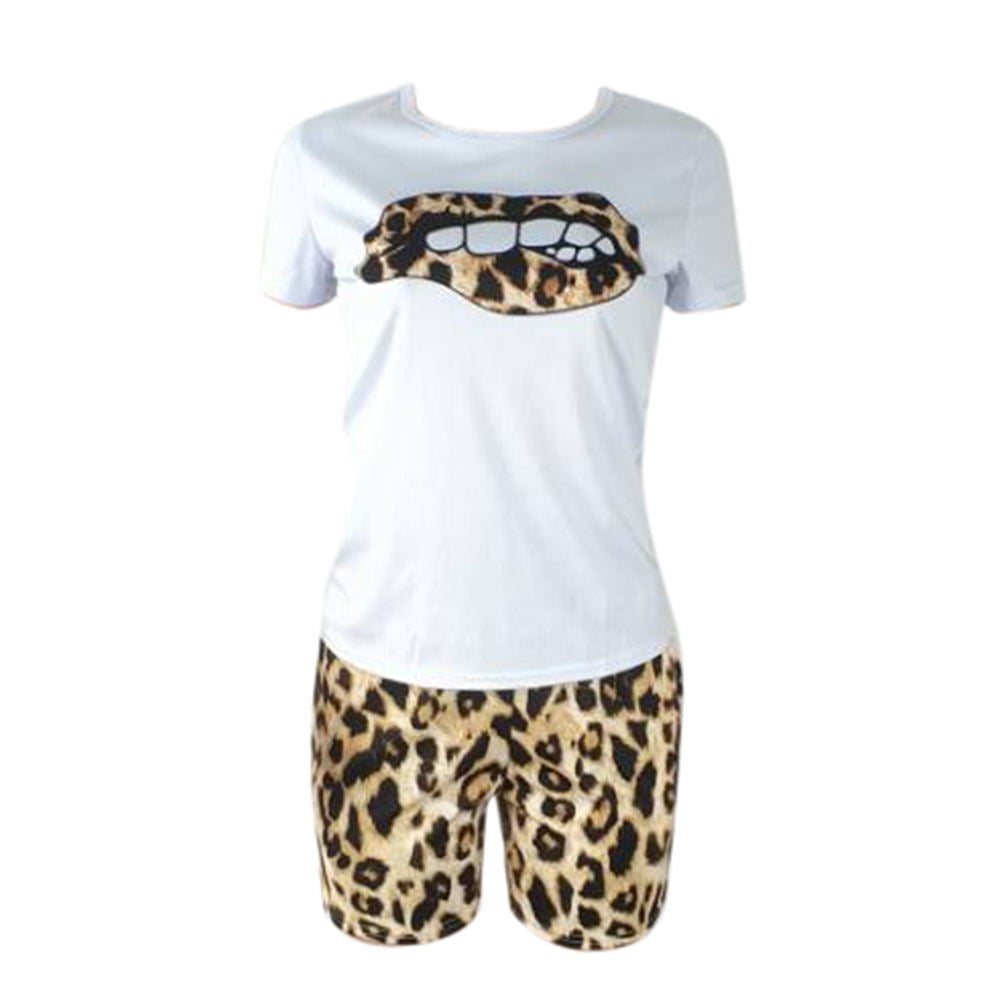 Leopard Lip Short Set