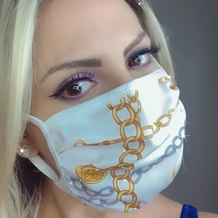 Chains Printed Face Mask