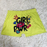 Power Girl Printed Shorts