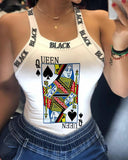Poker Q Crop Top