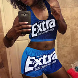 Extra Crop Top Short Set