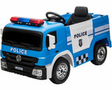 12v Ride On Battery Operated Police Van Truck Toy Car Children