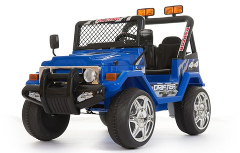 12V 2 Seater Ride on Electric Battery Powered 4x4 Car Truck Jeep Blue