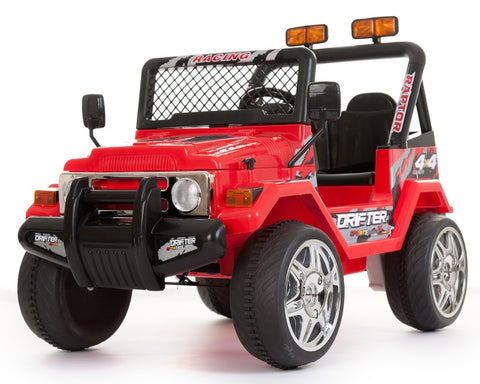 12V 2 Seater Ride on Electric Battery Powered 4x4 Car Truck Jeep Red