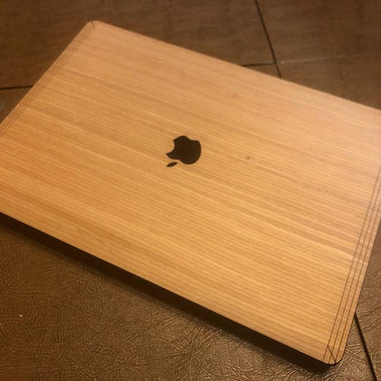 Wooden Skin Covers for your Apple MacBook. Protect your MacBook laptop from scratches and dust with the best decal wooden skins.