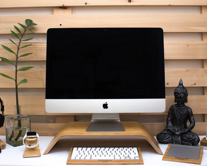 Wooden Stands for Monitors | Tech Desk Organizers | iWoodStore.com