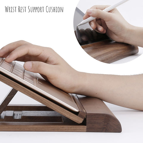 adjustable tablet stand with wrist rest