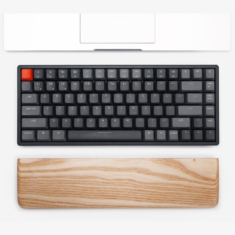 Rounded Keyboard Wrist Rest Ash Wood