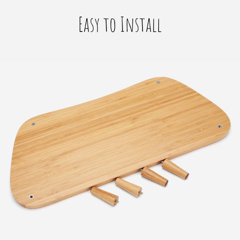 Bamboo Monitor Stand Organizer for Dell Monitor