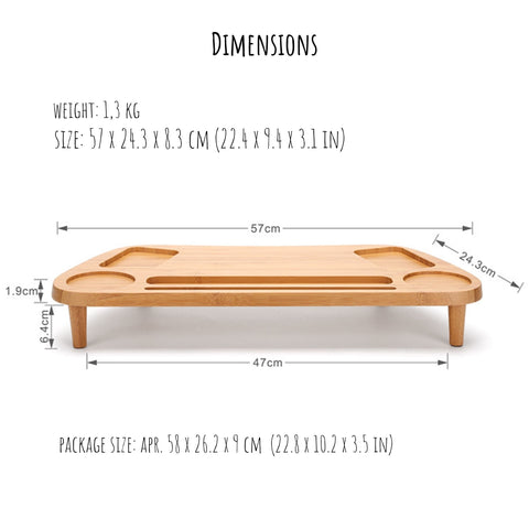 Bamboo Monitor Stand Organizer Dimensions