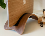 WOODEN STAND for MacBook Laptop holder desk docking station Vertical hold Gift wood stand MacBook Pro Air dock tech wood gift For Husband