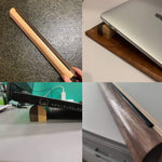 Portable laptop stand wood for table, wooden lap stand, slim laptop holder, wooden laptop stand, wooden macbook stand, laptop stand, Geek gift