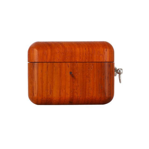 Rosewood Apple AirPods Pro Case with Keychain 🌳 Natural Wood. ♻️ Eco-friendly. ✈️ Free Worldwide Shipping. 🎁 Perfect Gift.