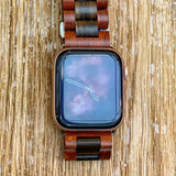 Rose Ebony Wooden Band for Apple Watch 🌳 Natural Wood. ♻️ Eco-friendly. ✈️ Free Worldwide Shipping. 🎁 Perfect Gift.