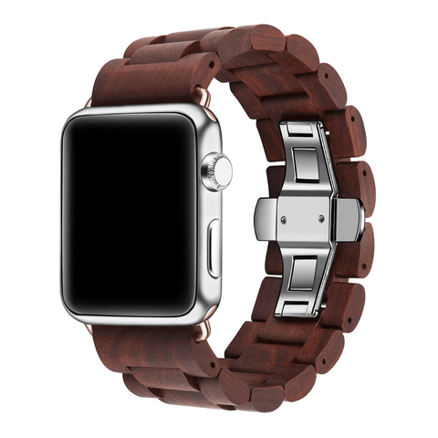 Rose Wooden Band for Apple Watch 🌳 Natural Wood. ♻️ Eco-friendly. ✈️ Free Worldwide Shipping. 🎁 Perfect Gift.