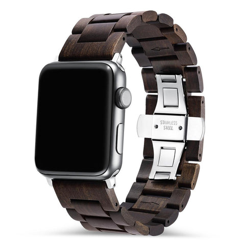 Ebony Apple Watch Wooden Band 🌳 Natural Wood. ♻️ Eco-friendly. ✈️ Free Worldwide Shipping. 🎁 Perfect Gift.