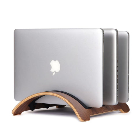 Vertical MacBook Stand 3 in 1 charging station 🌳 Natural Wood. ♻️ Eco-friendly. ✈️ Free Worldwide Shipping. 🎁 Perfect Gift.