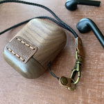 Walnut Wooden AirPod Case 🌳 Natural Wood. ♻️ Eco-friendly. ✈️ Free Worldwide Shipping. 🎁 Perfect Gift.