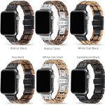 White Oak Silver Apple Watch Band 🌳 Natural Wood. ♻️ Eco-friendly. ✈️ Free Worldwide Shipping. 🎁 Perfect Gift.