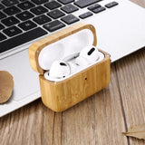 Bamboo AirPods Pro Case with Keychain 🌳 Natural Wood. ♻️ Eco-friendly. ✈️ Free Worldwide Shipping. 🎁 Perfect Gift.