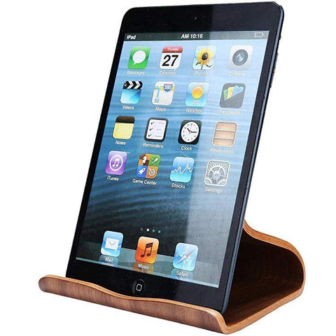 Wooden tablet stand or iPad holder for daily usage when you are cooking in Kitchen or reading recipe