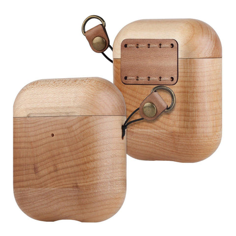 Maple Wooden AirPod Case 🌳 Natural Wood. ♻️ Eco-friendly. ✈️ Free Worldwide Shipping. 🎁 Perfect Gift.