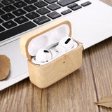 Maple AirPods Pro Case with Keychain 🌳 Natural Wood. ♻️ Eco-friendly. ✈️ Free Worldwide Shipping. 🎁 Perfect Gift.