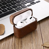 Wooden AirPods Pro case Real wood protective AirPods Natural Maple Wood cover with Keychain, best gift for Boyfriend, Father, Friend