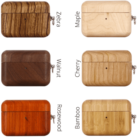 Zebra AirPods Pro Case with Keychain 🌳 Natural Wood. ♻️ Eco-friendly. ✈️ Free Worldwide Shipping. 🎁 Perfect Gift.