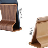 Tablet Holder Stand for Desk 🌳 Natural Wood. ♻️ Eco-friendly. ✈️ Free Worldwide Shipping. 🎁 Perfect Gift.
