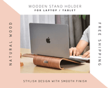 Wooden stand holder for Laptop 🌳 Natural Wood. ♻️ Eco-friendly. ✈️ Free Worldwide Shipping. 🎁 Perfect Gift.