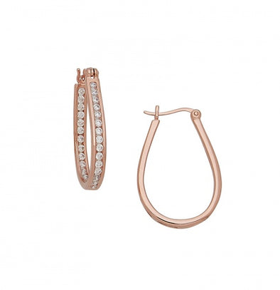 Inside + Outside Rose Gold Hoops