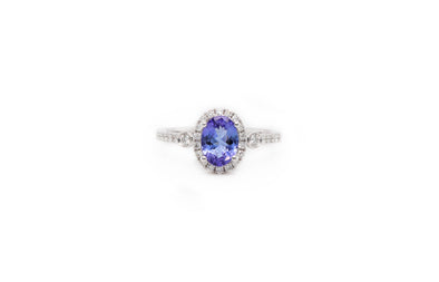 Tanzanite + Diamond Ring